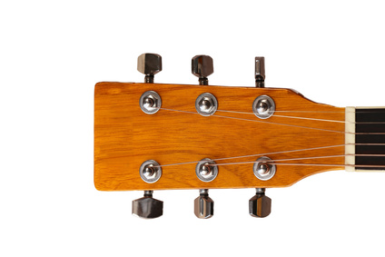 Headstock of the guitar - Clipping path included