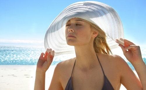 proteger son visage du soleil